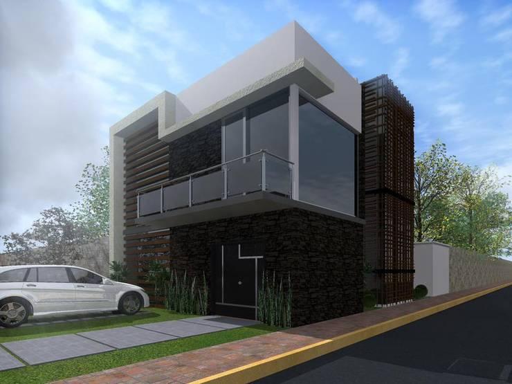 Casa FM: Casas de estilo  por HC Arquitecto