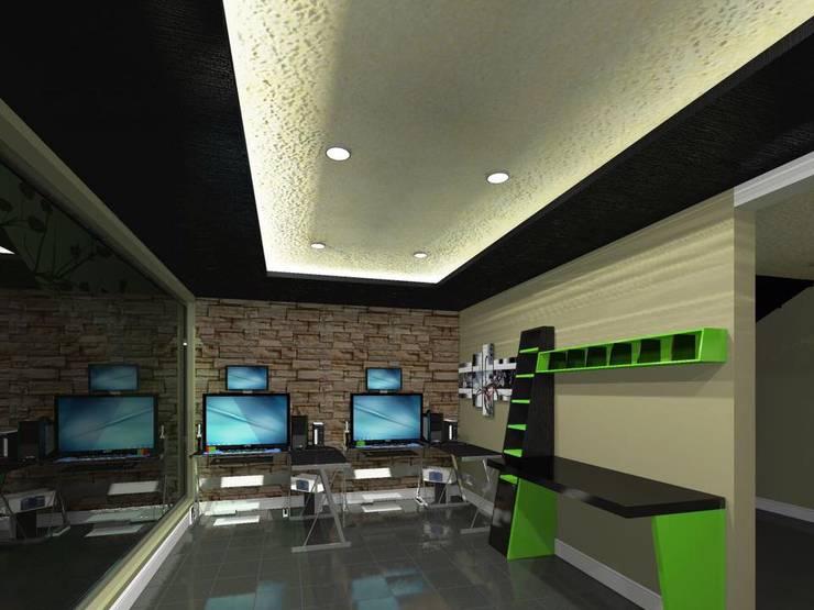 Casa FM: Estudios y oficinas de estilo  por HC Arquitecto, Minimalista