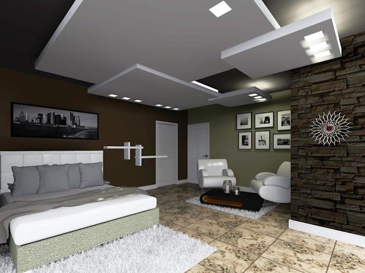 Casa FM: Recámaras de estilo minimalista por HC Arquitecto