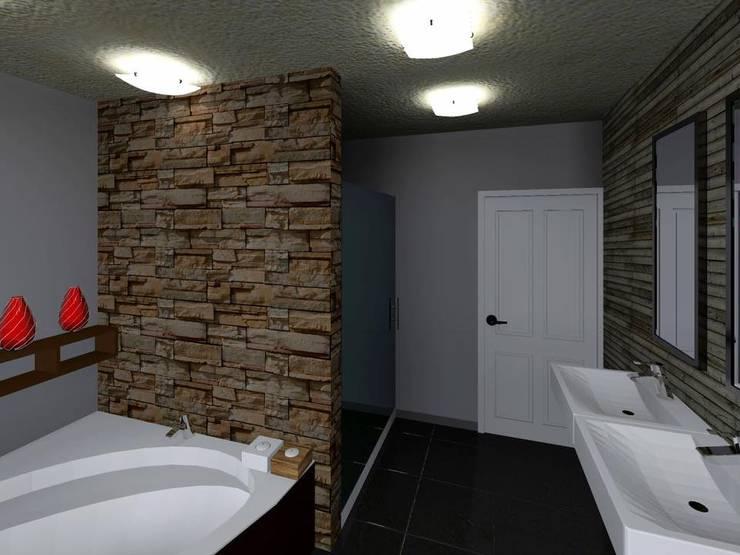 Casa FM: Baños de estilo  por HC Arquitecto