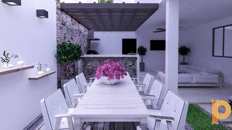 jardin vista 2: Jardines de estilo  por planeacion y proyectos constructivos s.a de c.v.