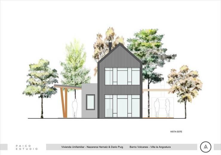 Vista frente: Casas de estilo  por Paico,