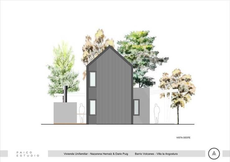 Vista Posterior: Casas de estilo  por Paico,