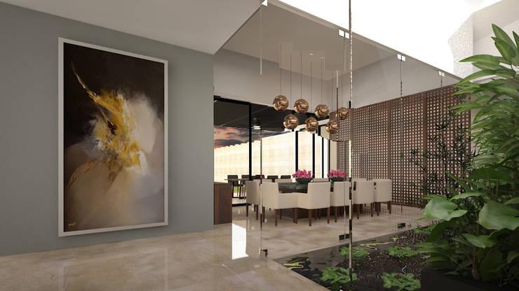 Vestíbulo: Pasillos y recibidores de estilo  por Vau Studio