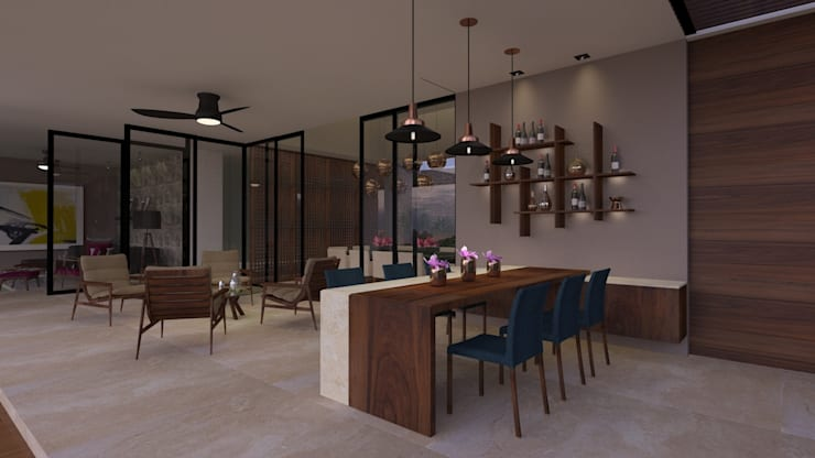 CASA MONTEBELLO: Terrazas de estilo  por Vau Studio