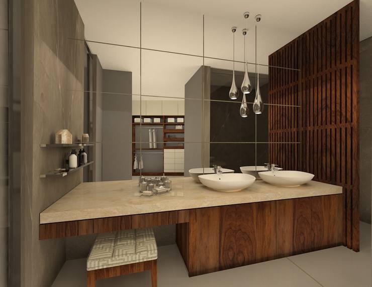 Baños de estilo moderno por Vau Studio