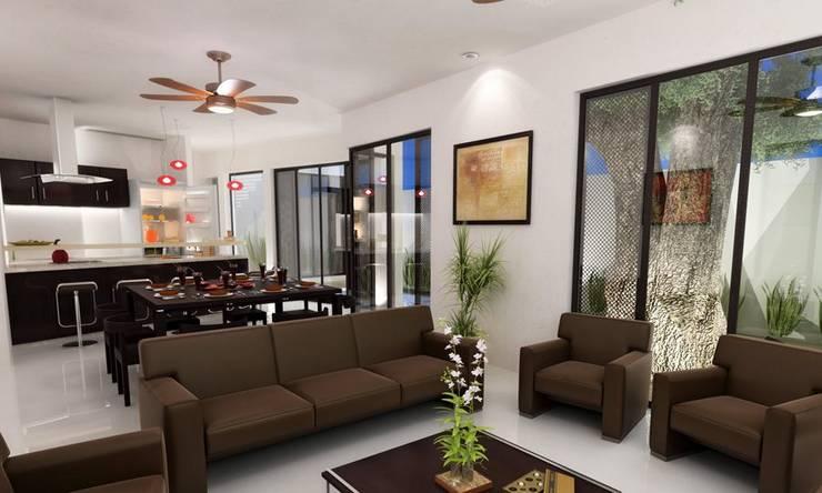 Phòng khách by FRACTAL CORP Arquitectura