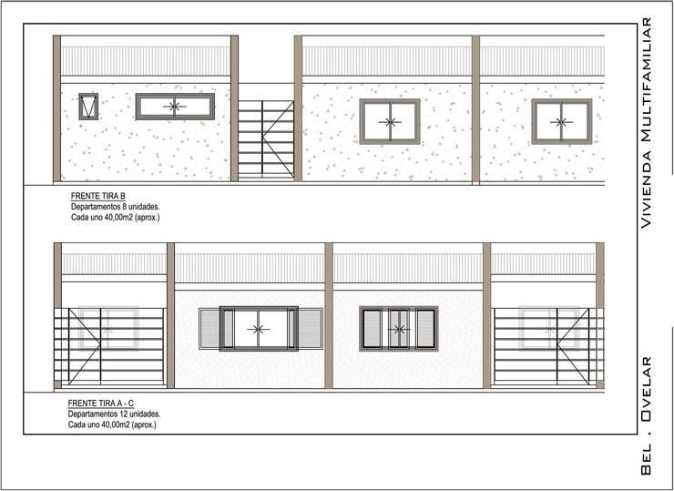 Frente Modulos B - A - C: Casas de estilo  por obelarQ,