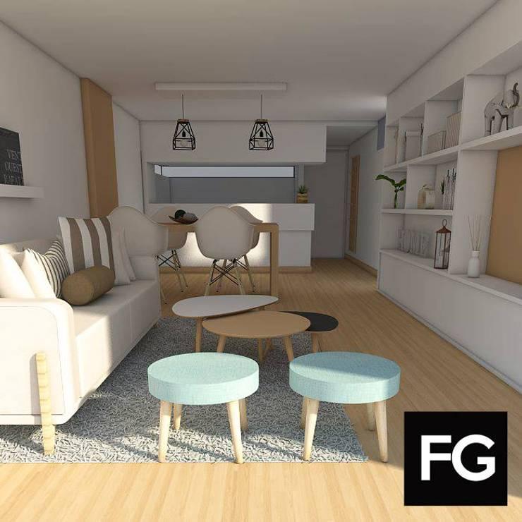 INTERIORISMO II: Livings de estilo  por FG ARQUITECTURA E INTERIORISMO,