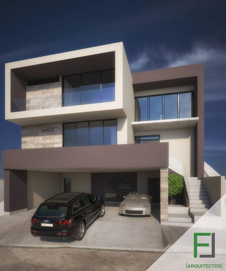 Fachada casa Lagos del Vergel: Casas de estilo  por FL Arquitectos, Moderno