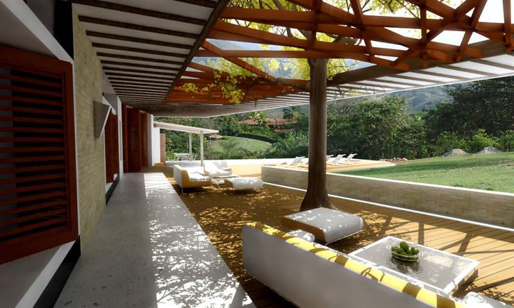 CASA L1 _ San Jerónimo Antioquia Casas de estilo minimalista de @tresarquitectos Minimalista