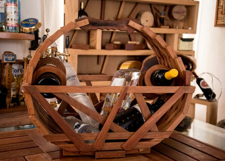 Canasta para vino :  de estilo  por Stann Designs S.A de C.V., Moderno
