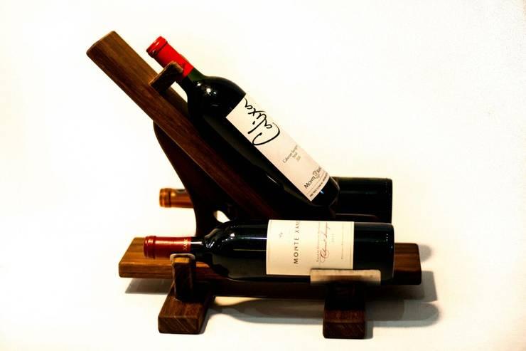 Soporte de botellas de vino:  de estilo  por Stann Designs S.A de C.V., Moderno