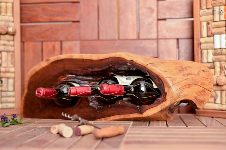 Soporte para 3 botellas de vino:  de estilo  por Stann Designs S.A de C.V., Moderno