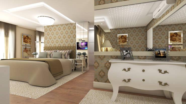 modern Bedroom by Giovana Lumertz Design de Interiores
