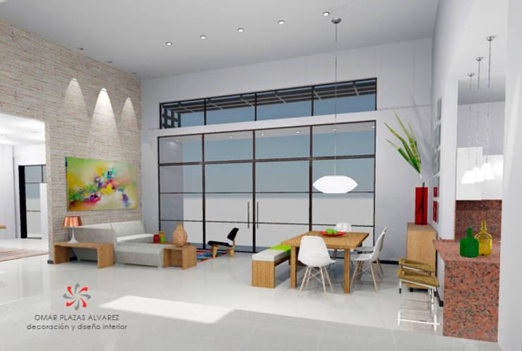 Casa Villeta Cundinamarca:  de estilo  por Omar Interior Designer  Empresa de  Diseño Interior, remodelacion, Cocinas integrales, Decoración