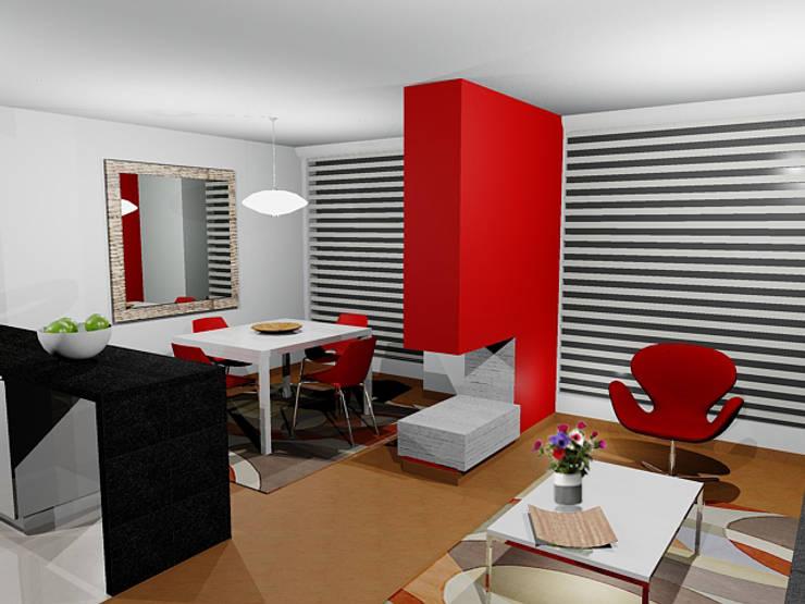 propuesta de diseño sala comedor:  de estilo  por Omar Interior Designer  Empresa de  Diseño Interior, remodelacion, Cocinas integrales, Decoración