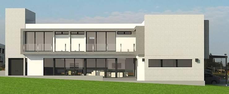Vista lateral.: Casas de estilo  por ARQUIGRAF YB,