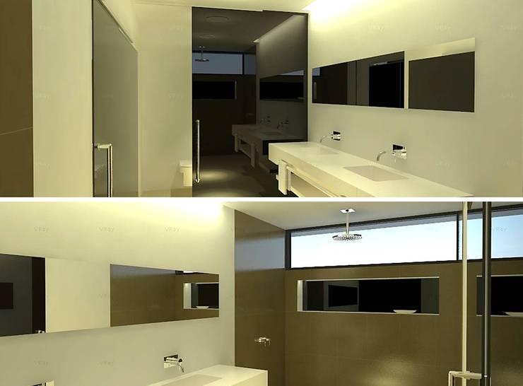 Vista de baño en dormitorio principal.: Baños de estilo  por ARQUIGRAF YB,