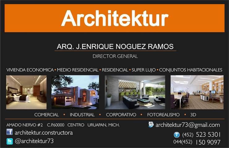 ARCHITEKTUR: Recámaras de estilo  por Architektur