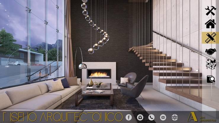 PROYECTO ALMENA: Casas de estilo  por ADC arquitectos , Moderno