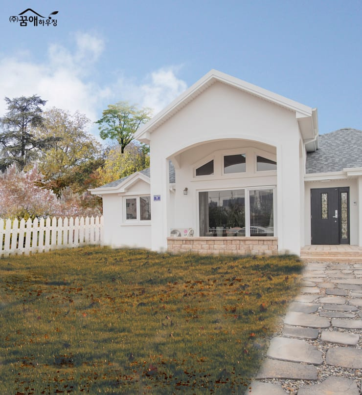 꿈속의 동화같은 단층 목조주택: 꿈애하우징의  주택