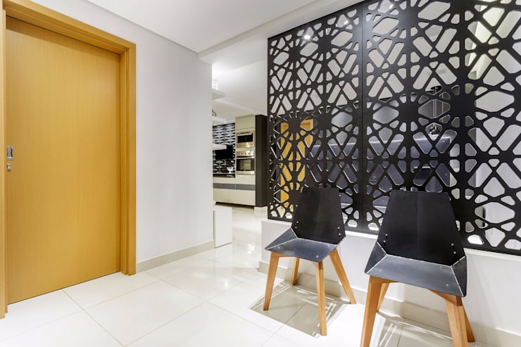 Pasillos y recibidores de estilo  por Caio Prates Arquitetura e Design