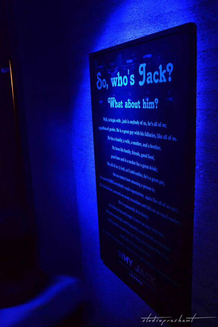why jack lounge:  Bars & clubs by ogling inches design architects