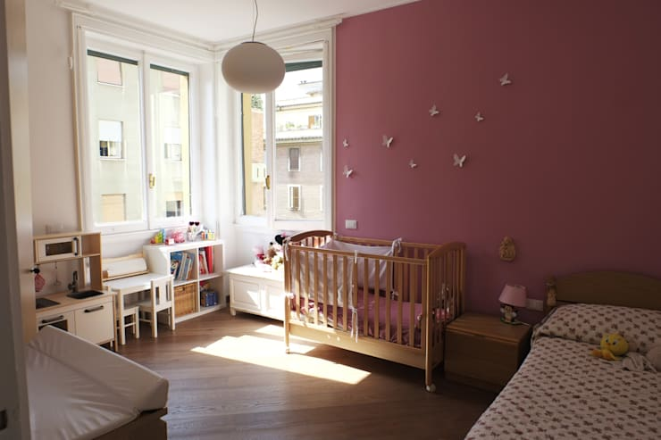 Casa PF: Camera da letto in stile  di Giulia Villani - Studio Guerra