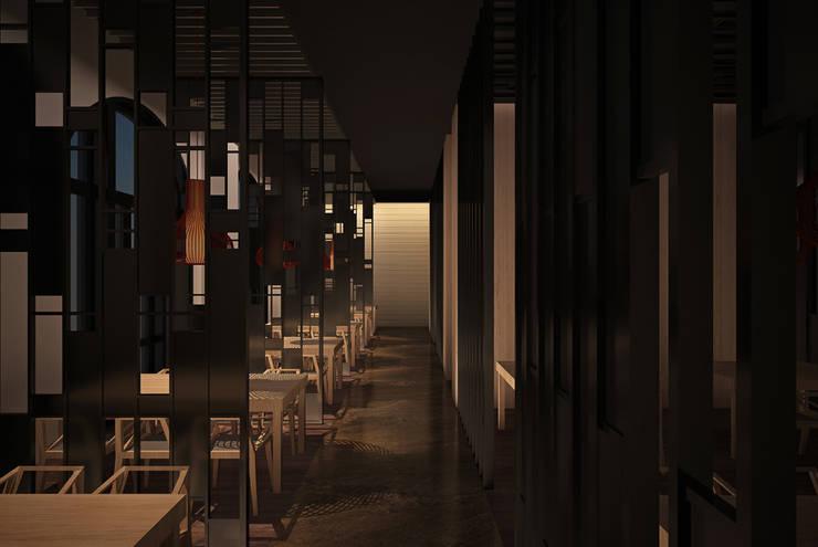 天津 響鑼灣德式商店街餐廳:  辦公室&店面 by 直譯空間設計有限公司