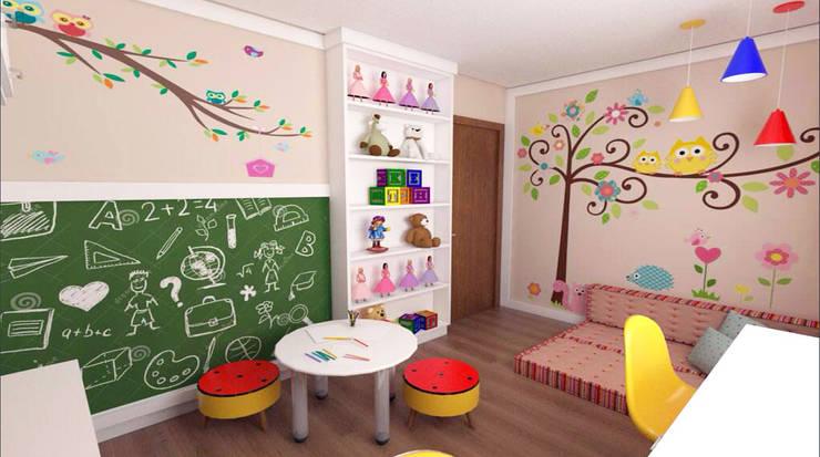Brinquedoteca: Quarto infantil  por Giovana Lumertz Design de Interiores