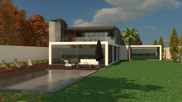 New House ( Barcelos): Casas modernas por Fabio Pereira & João Fraga, Arquitetos