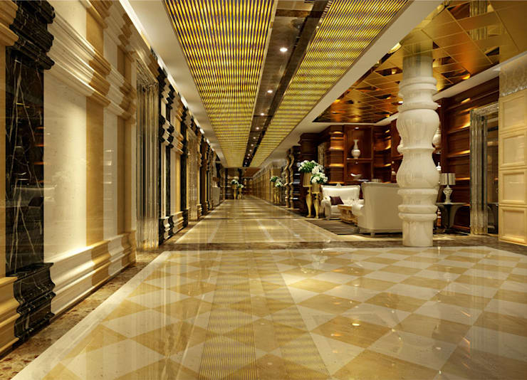CNC Carving Faux Alabaster in China:  Corridor & hallway by ShellShock Designs