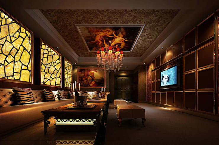 CNC Carving Faux Alabaster in China:  Living room by ShellShock Designs