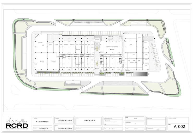 Planta General: Centros comerciales de estilo  por RCRD Studio