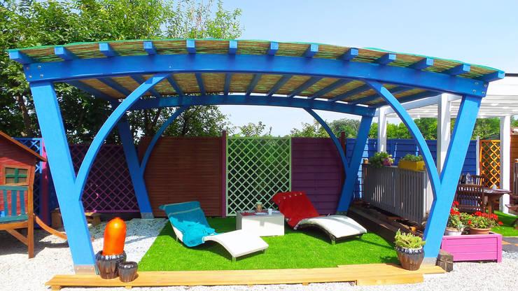 Jardín de estilo  por Verdebano ASC F.lli Saramin & Co. s.n.c.