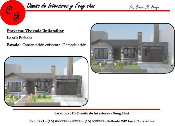 Vivienda Unifamiliar: Casas de estilo  por CF Diseño de interiores y Feng Shui,