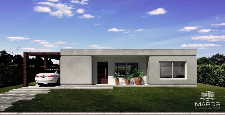 FACHADA CASA: Casas de estilo  por Estudio MaRqS