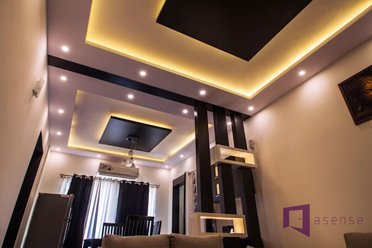 False Ceiling :  Walls & flooring by Asense