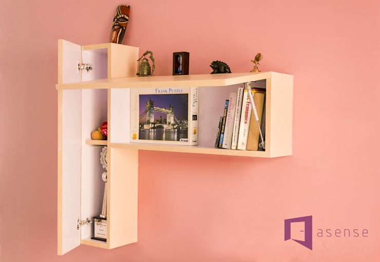 Book Shelf in Living Area:  Living room by Asense