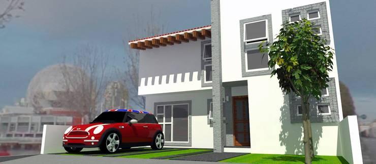 Casa EDOMEX: Casas de estilo  por REA + m3 Taller de Arquitectura, Moderno