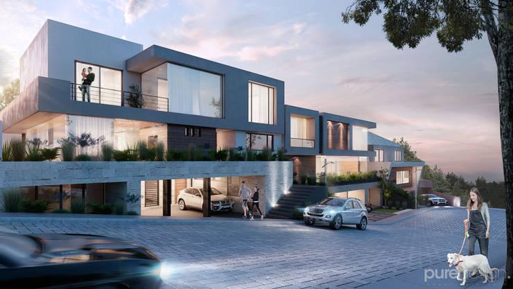 Vista General: Casas de estilo  por Pure Design