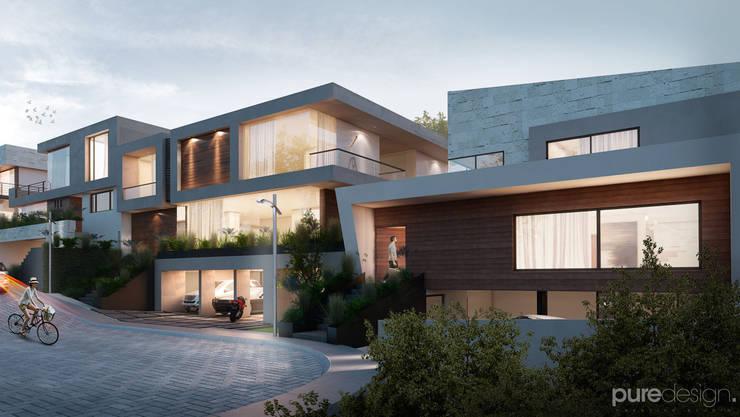 Vista general 2: Casas de estilo  por Pure Design