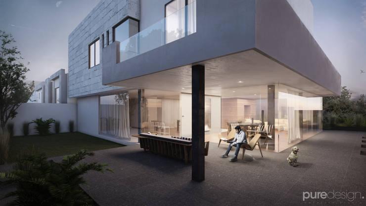 Cañada 29: Casas de estilo  por Pure Design