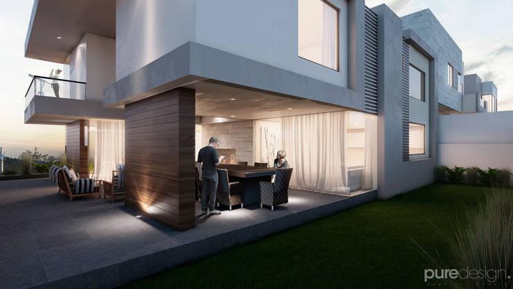 Cañada 30: Casas de estilo  por Pure Design