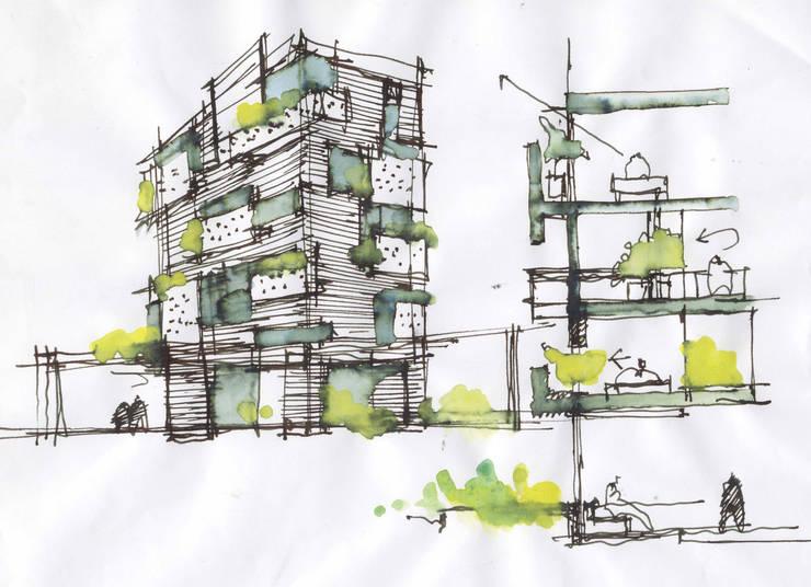 HOTEL BH93:  de estilo  por MRV ARQUITECTOS