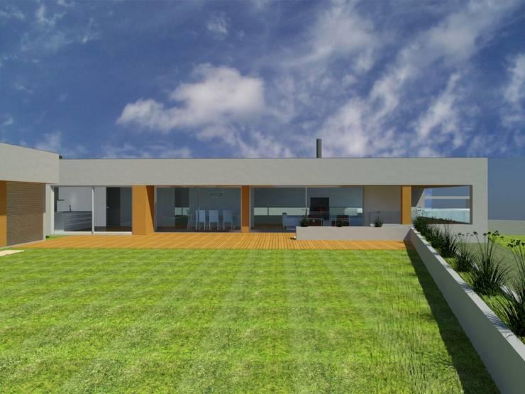 Moradia Rua José Afonso – Gondomar: Casas  por Albertina Oliveira-Arquitetura Unipessoal Lda