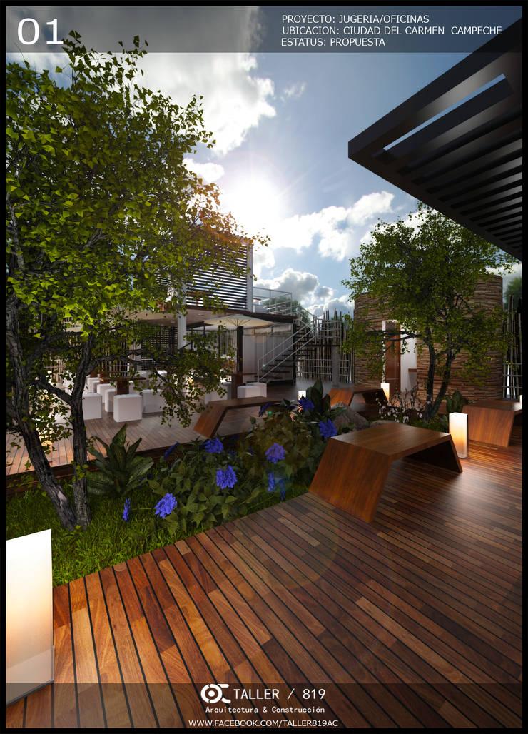 JUGUERIA/OFICINA: Casas de estilo  por TALLER819 A & C, Moderno Hierro/Acero