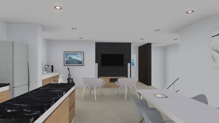 Vivienda de planta alta: Livings de estilo  por ARBOL Arquitectos