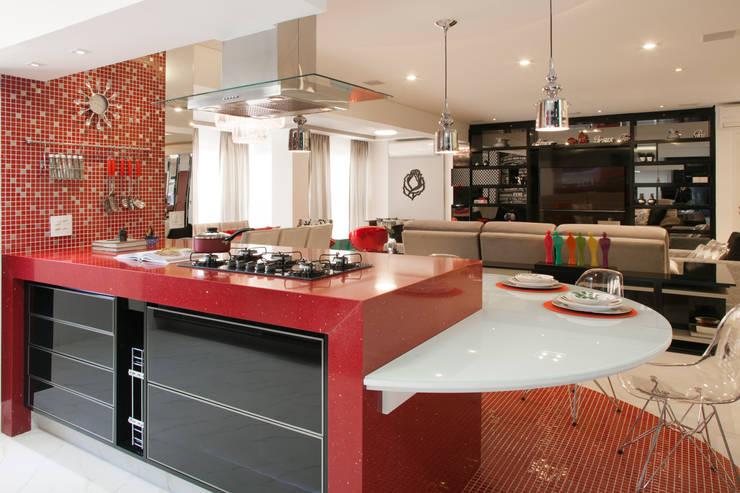 Cocinas de estilo  por Ahph Arquitetura e Interiores, Moderno